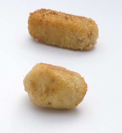 Croquettes on a white background photo