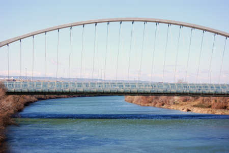 zaragoza: Third Millennium Bridge in Zaragoza, Spain  Stock Photo
