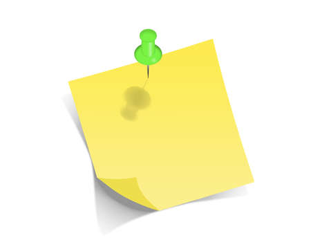 posit: Yellow pos-it on white background