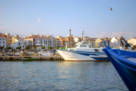the dorada: Docked yachts in dock of Cambrils, Spain