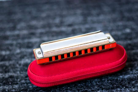 harmonica blues close up Standard-Bild