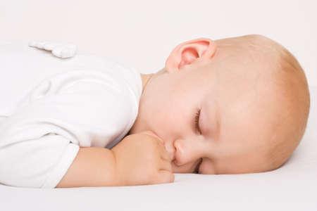 Sleeping angel boy with wings Stock Photo - 3444476