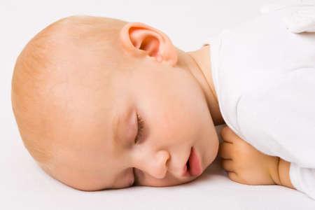 Sleeping angel boy photo