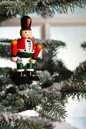 solider: Christmas toy solider on tree
