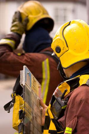 fireman helmet: Emergency Services fire men