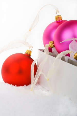 way out: Christmas baubles boxed and unboxed, put away and get them out.