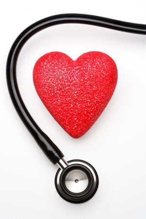 Stethoscope and red heart, health. Stock Photo - 4441128