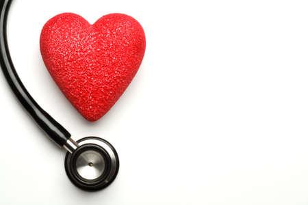 Stethoscope and red heart, health Stock Photo - 4441124