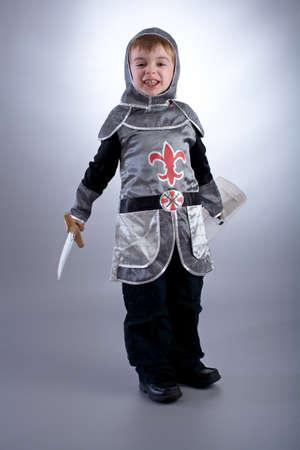 fancy dress costume: Boy in knight costume