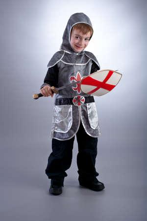 Boy in knight costume photo