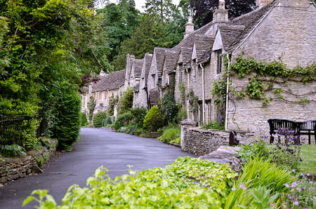 A Row of Houses in Castle Combe in Wiltshire - said to be the prettiest village in England