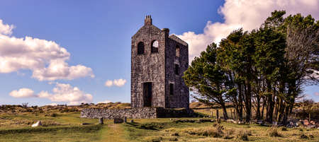 An old Cornish Tin Mining World Heritage Site Located on Bodmin moor cornwall England UK