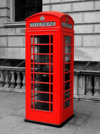 Whitehall Telephone Box Stock Photo