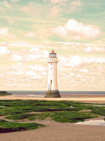Perch Rock Lighthouse - New Brighton Stock Photo
