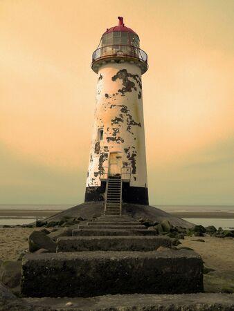 Moody Talacre Lighthouse Stock Photo