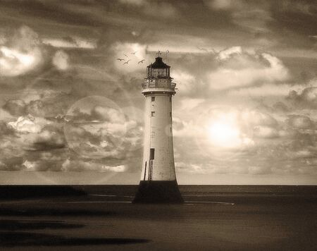 Vintage Lighthouse Stock Photo - 17432076