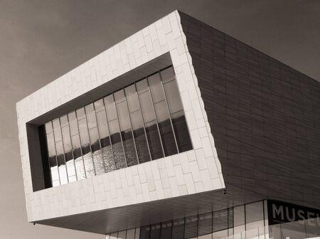 Museum of Liverpool in Sepia Stock Photo
