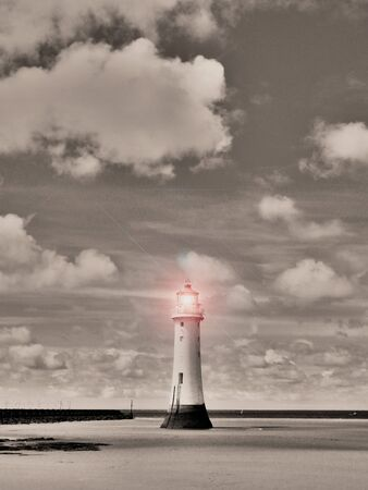 Sepia Surreal Lighthouse