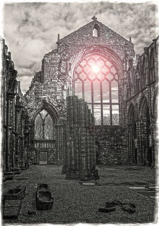 Holyrood Abbey Sunrise Stock Photo