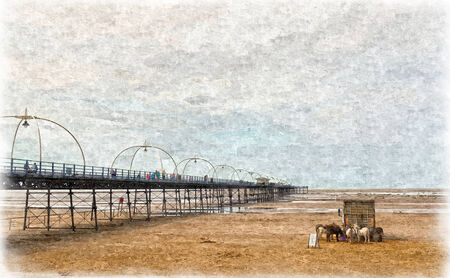 Southport Pier in Oils photo