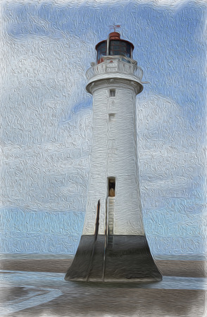 Perch Rock Painted Stock Photo