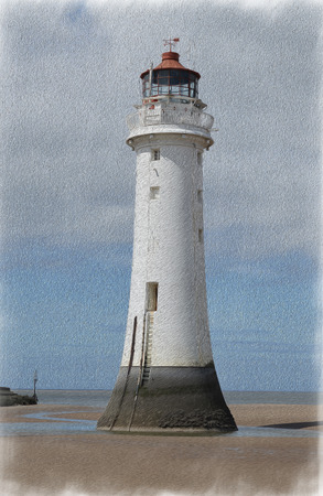 Perch Rock Painted 2 Stock Photo