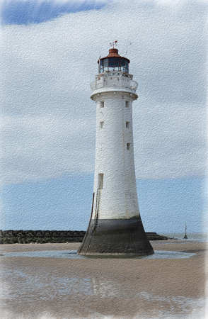 Perch Rock Painted 3