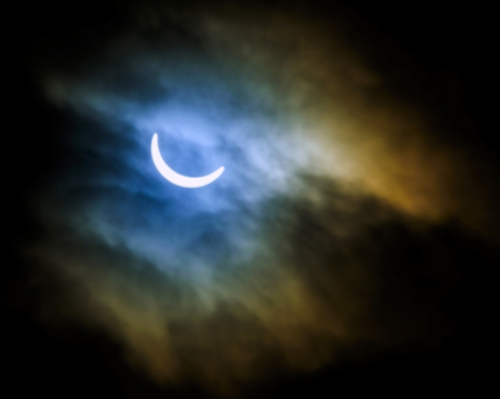 The Solar Eclipse Stock Photo