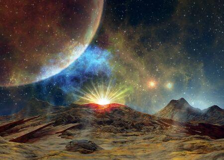 A Martian Sunrise Stock Photo