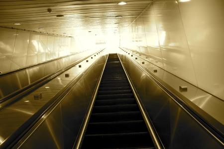 A concept image of escalator going to the heaven  photo