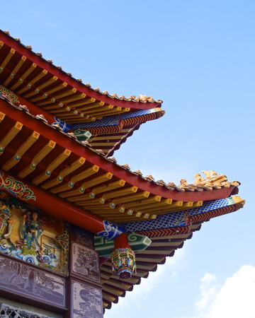 tatoos: The corner of  temple roof at Kaohsiung,Taiwan