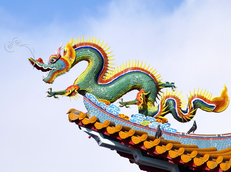 The corner of  temple roof at Kaohsiung,Taiwan