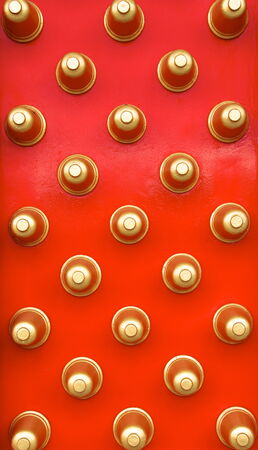 The Chinese style of wooden door on closeup photo