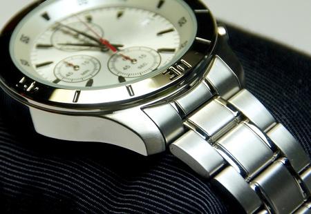 cronografo: El acero inoxidable del cron�grafo reloj de cerca