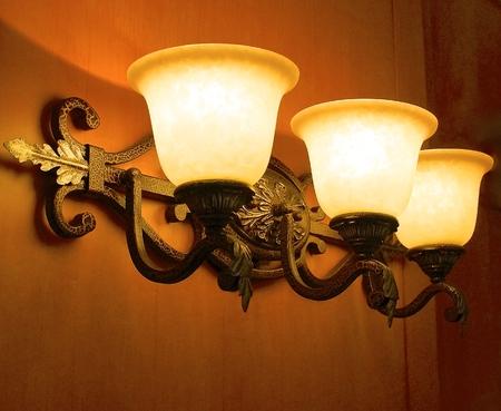 lamp shade: The close view of a lobby lamp shade Stock Photo