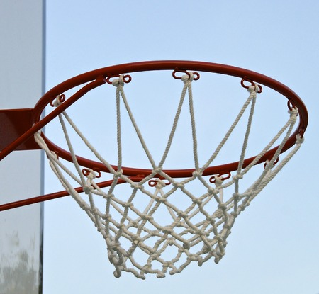 Basketball hoop with net  in the playground photo