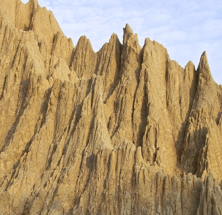 badland: The close view of badland formations in southern Taiwan Stock Photo