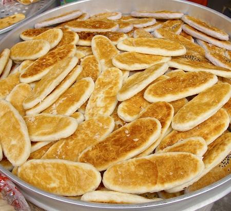 maltose: Lukangs ox tongue cakes closeup in Taiwan