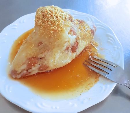 Vegetarian rice dumpling closeup Reklamní fotografie