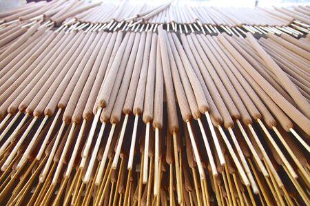Joss sticks factory closeup in Taiwan Stock Photo