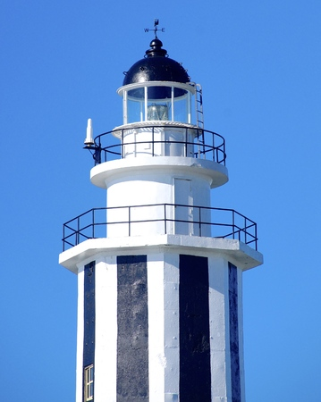 navigational light: Lighthouse closeup in Taiwan Stock Photo