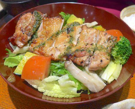 Costillas japonesas con vegetales