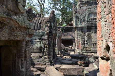 Inside Preah Khan temple  Angkor  Cambodia photo