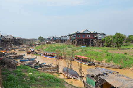 Floating village of Kompong Phluk on Lake Tonle Sap Cambodia Siem Reap photo