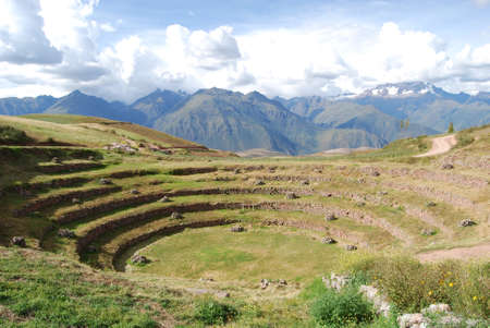 moray: View of Moray in the valley of the Urubamba river