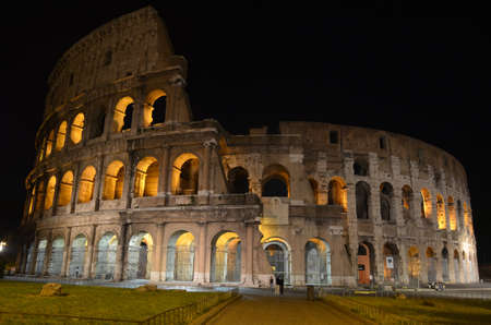 Night view of the Colosseum Rome
