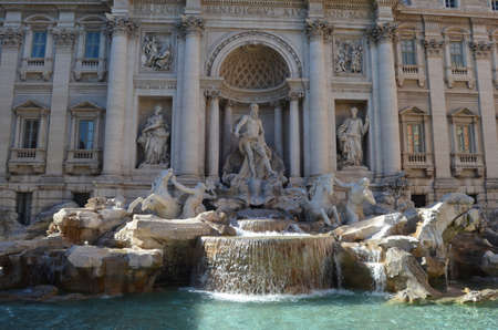 View of the Trevi Fountain photo