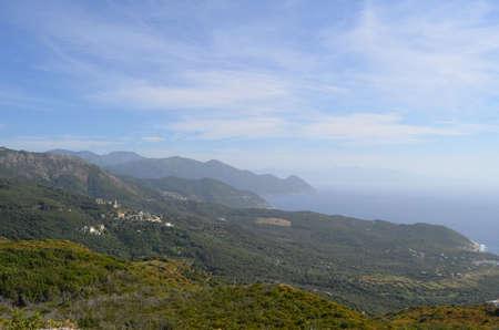 capo: Overview of the cliffs of Capo Corso Corsica