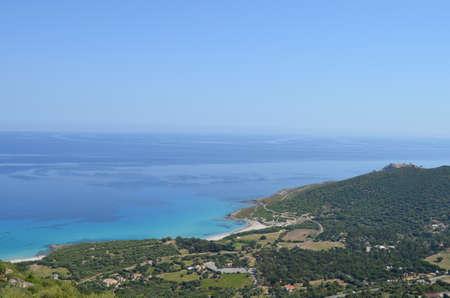 capo: View of the beaches of Capo Corso  Corsica