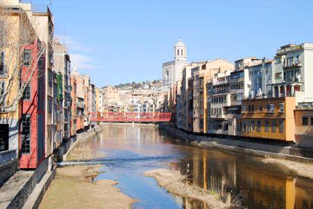 catalunya: View of Girona Catalunya Stock Photo